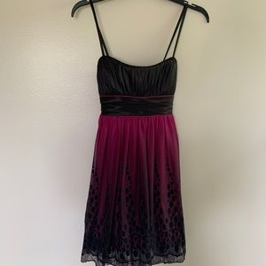 City Triangles Fuchsia Ombré Homecoming Dress S
